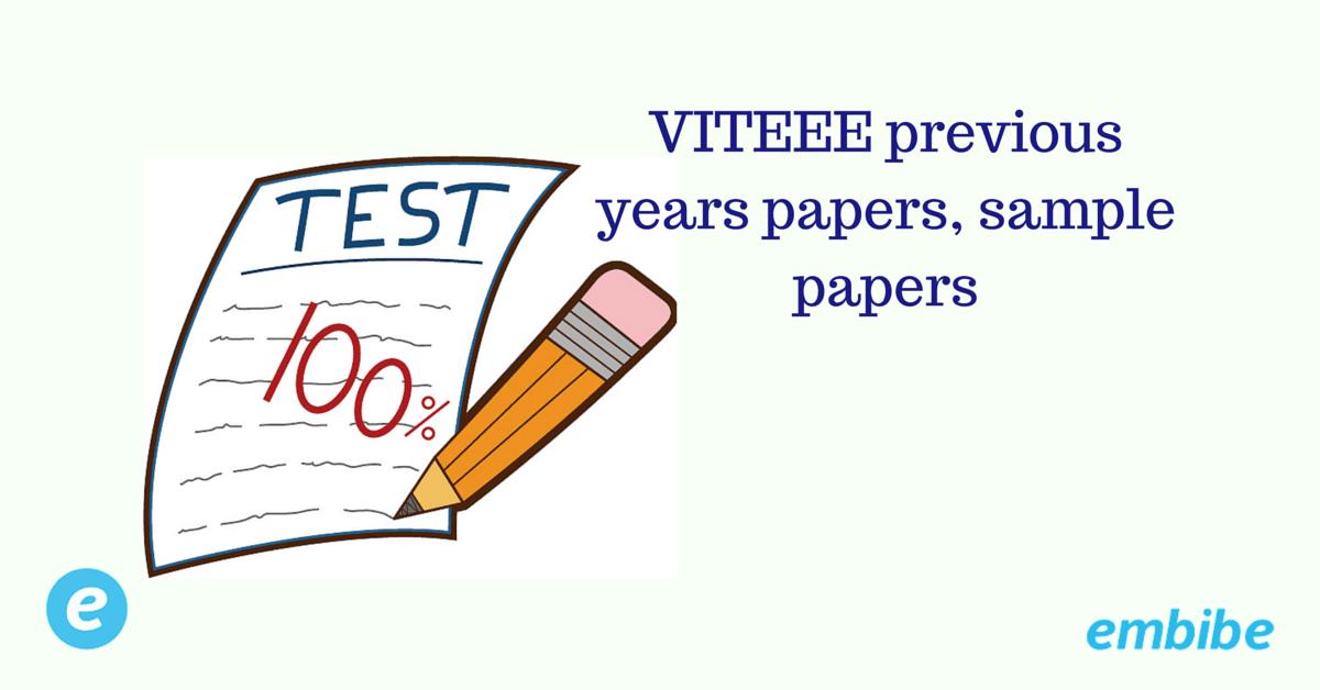 VITEEE Sample paper