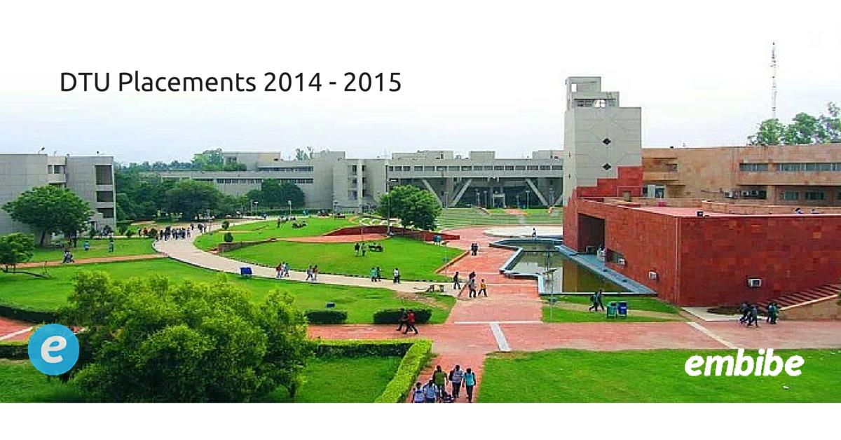DTU Placements 2014 - 2015