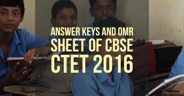 CBSE CTET September 2016 exam