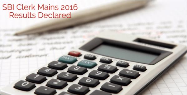 SBI Clerk Mains (Phase II) Exam 2016 Results Declared