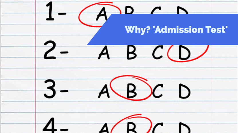 Why Admission Test