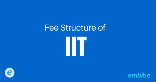 Fee Structure of IIT