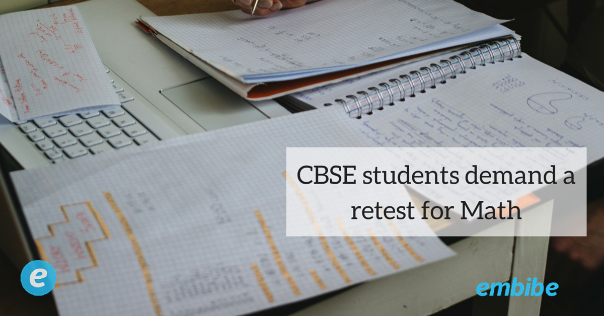 CBSE students demand a retest for Math