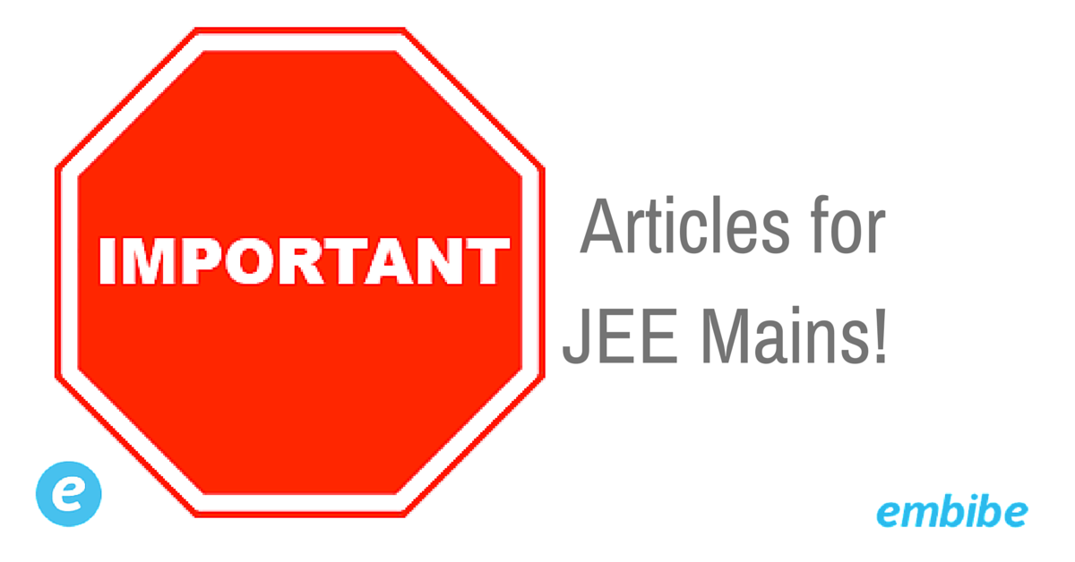 Articles for JEE Mains
