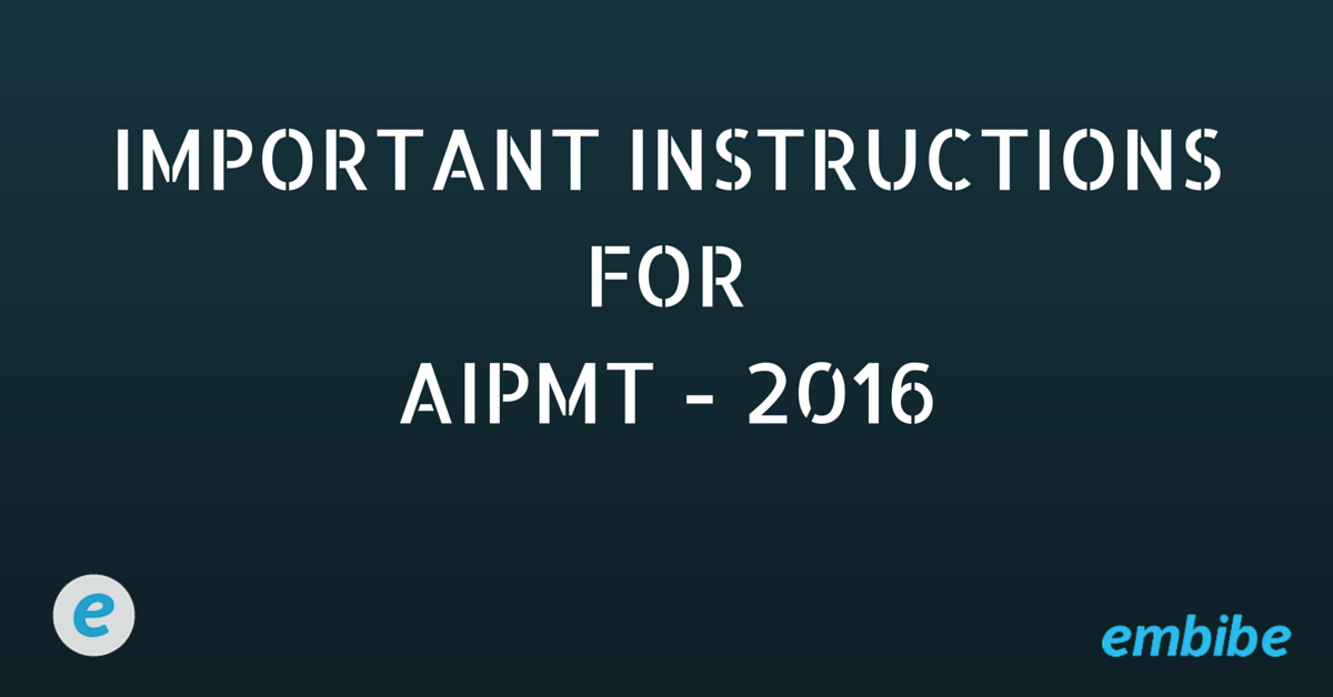 IMPORTANT INSTRUCTIONSFORAIPMT - 2016