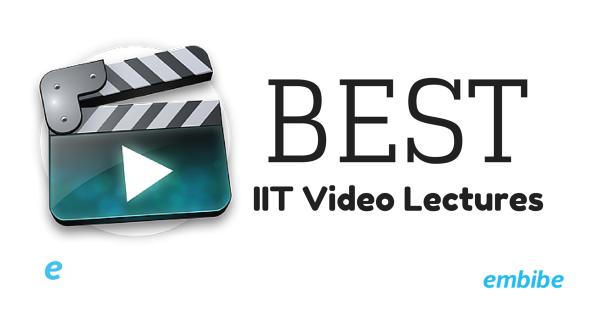 Best IIT Video Lectures