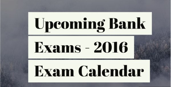 Upcoming Bank Exams Calendar