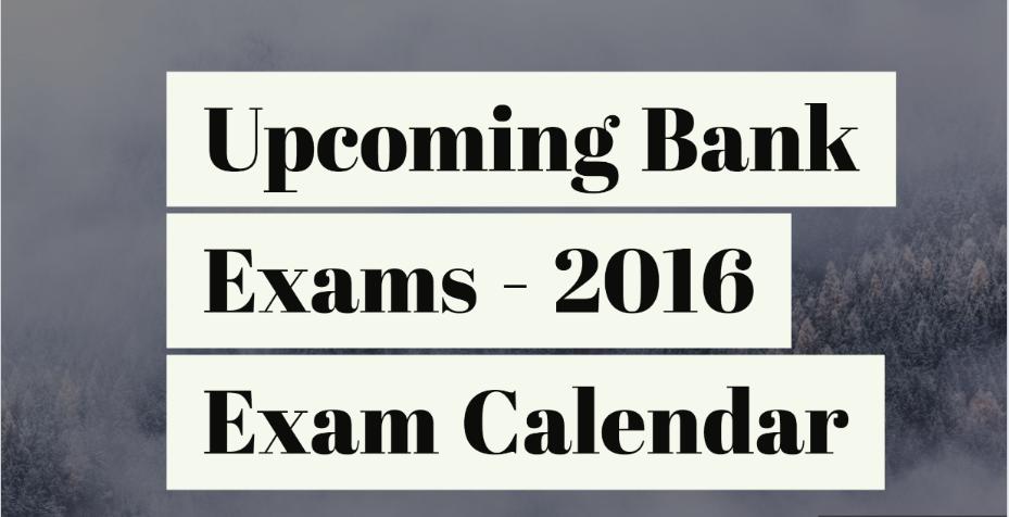 Upcoming Bank Exams Calendar