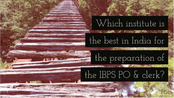 Which institute is the best in India for the preparation of the IBPS PO & clerk?