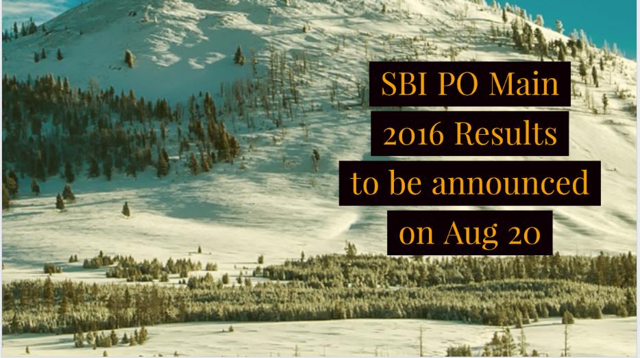 SBI PO Main 2016 results