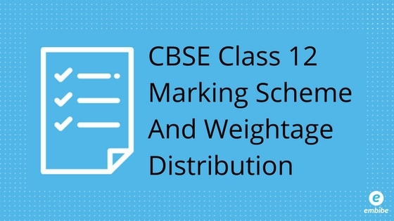 CBSE Class 12 Marking Scheme And Weightage Distribution For 2019