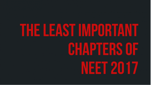 The least important chapters for NEET 2017: Chapters that you should study last