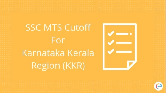 SSC MTS Cutoff Karnataka Region