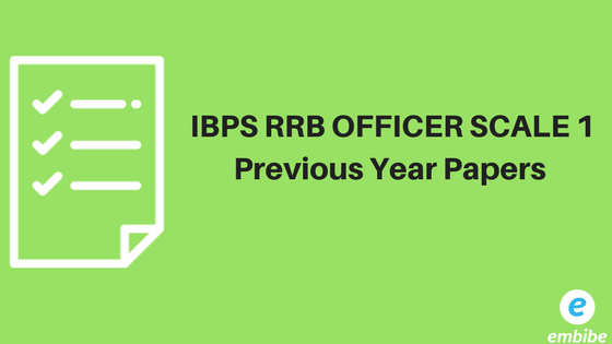 BPS RRB Officers Scale 1 Previous Year Papers