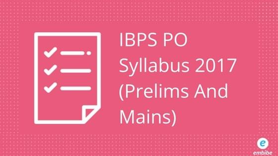 IBPS PO Syllabus 2017