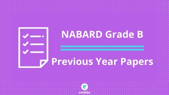 NABARD Grade B Previous Year Papers