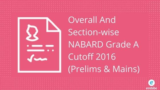 NABARD Grade A Cutoff 2016