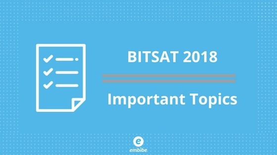 BITSAT Important Topics | See Weightage Of All Important Topics For BITSAT