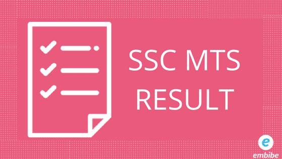 SSC MTS Result