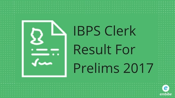 IBPS Clerk Result 2017 for Prelims Likely To Be Declared on 23rd December At www.ibps.in