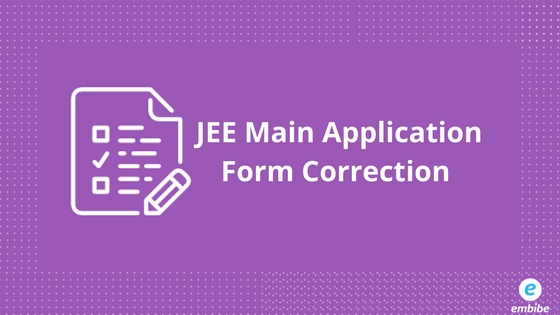 JEE Main Application Form Correction