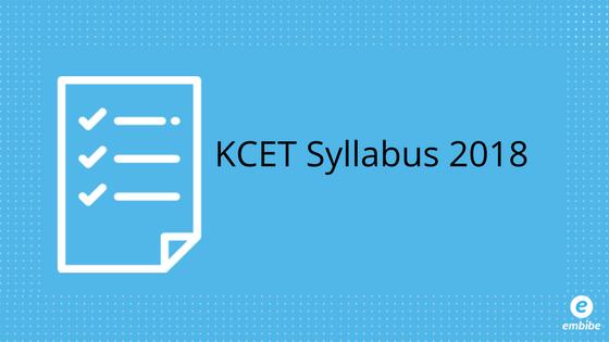 KCET Syllabus 2018