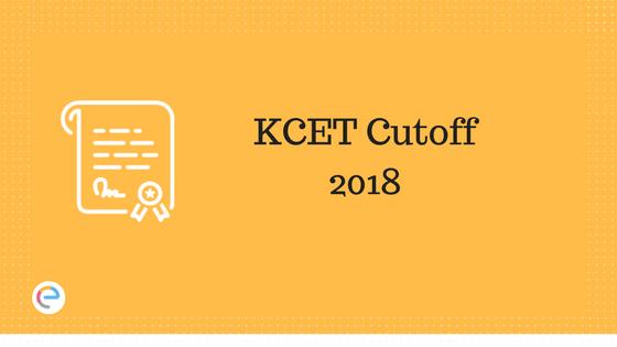 KCET Cut off 2018
