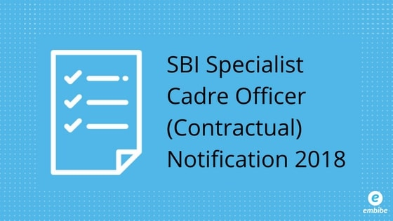 SBI SO Notification 2018