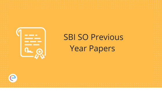 SBI Specialist Officer Previous Year Papers | Download State