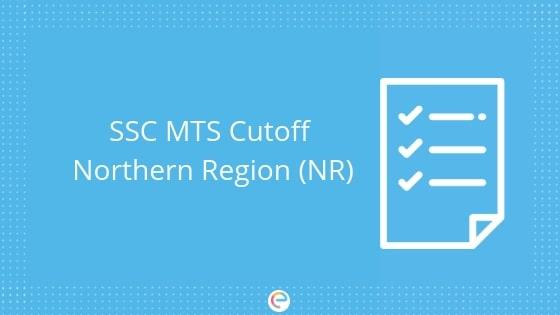 SSC MTS Cutoff Northern Region