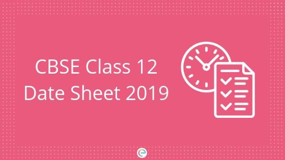 CBSE Date Sheet Class 12