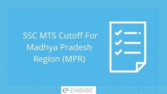 SSC MTS Cutoff Madhya Pradesh Region