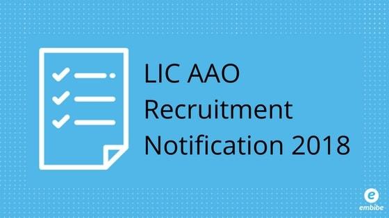 LIC AAO Notification 2018