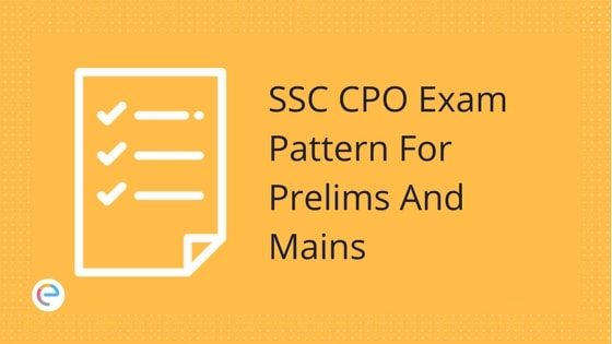 SSC CPO Exam Pattern 2018