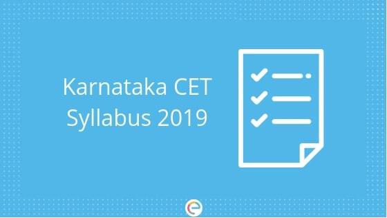 KCET Syllabus 2019