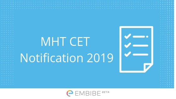 MHT CET Notification 2019