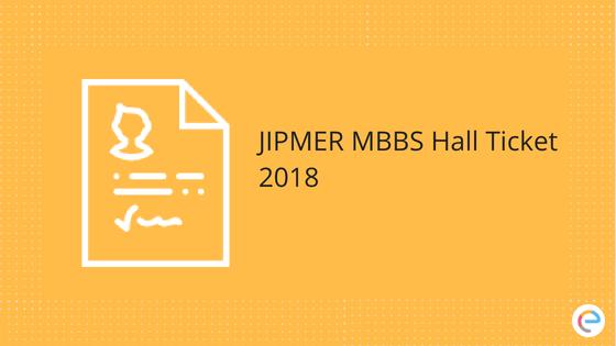 JIPMER Admit Card