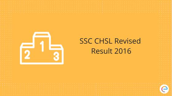 SSC CHSL Revised Result