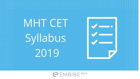 MHT CET Syllabus 2019