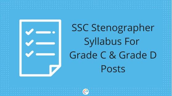 SSC Stenographer Syllabus