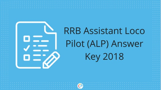 RRB ALP Answer Key 2018