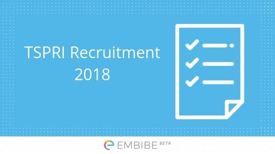 TSPRI Recruitment 2018