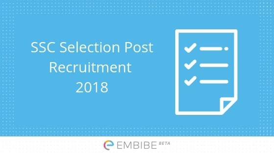 SSC Selection Post Recruitment