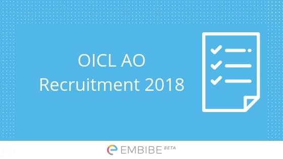 OICL AO Recruitment