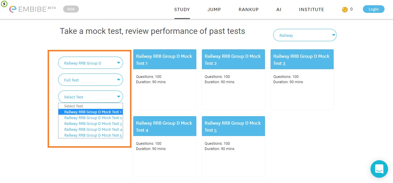 RRB Group D Mock Test | FREE Online Mock Tests Along With Solutions ...