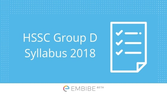 HSSC Group D Syllabus