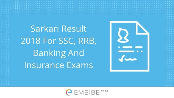 Sarkari Result | Results For SSC, RRB, Banking, Insurance & Other Government Job Exams
