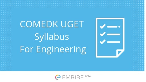COMEDK Syllabus For Engineering