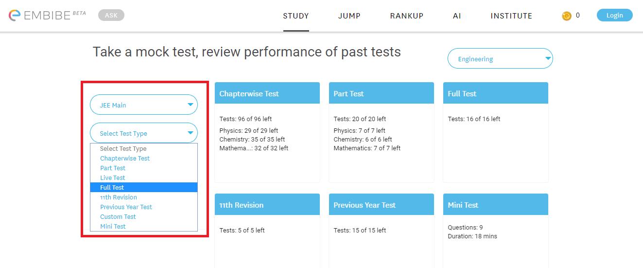 SRMJEEE Mock Test Series