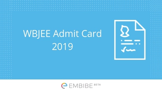 WBJEE Admit Card 2019